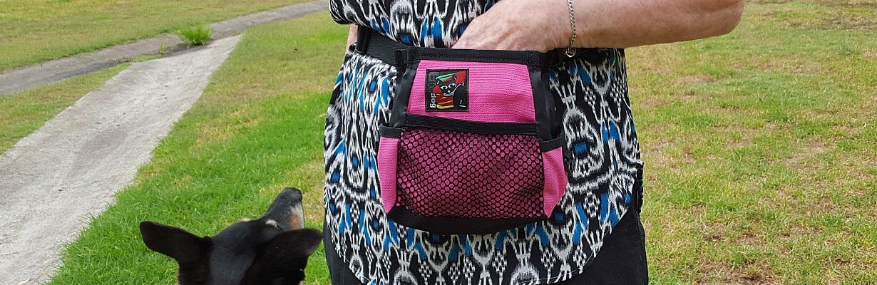 buy dog training pouch pink