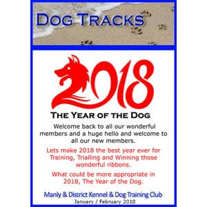 manly dog club newsletter January 2017